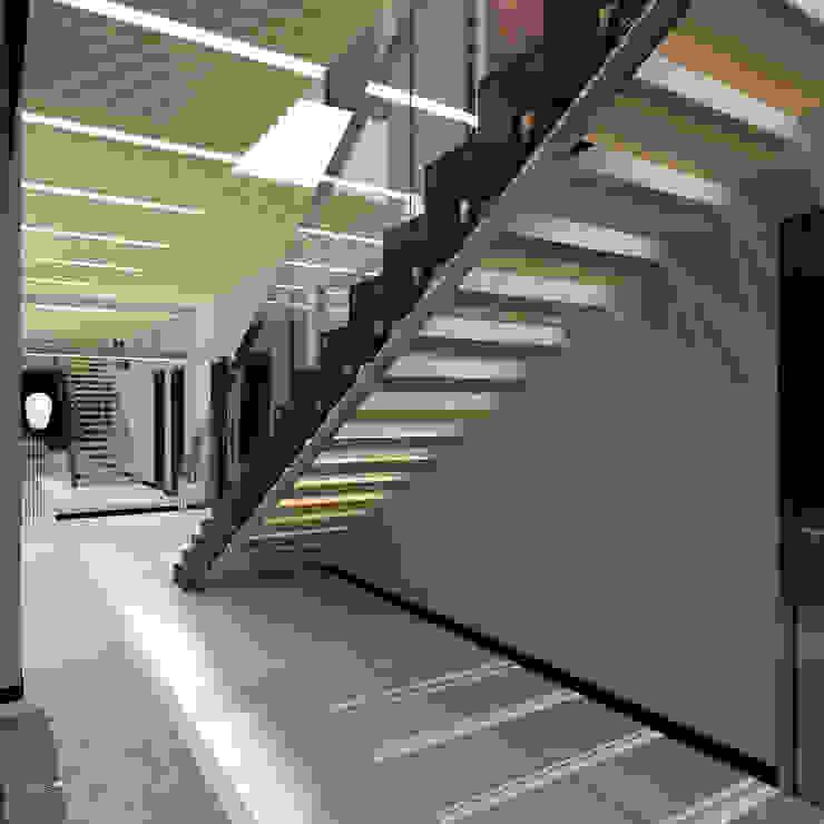 CHM architect Minimalist corridor, hallway & stairs