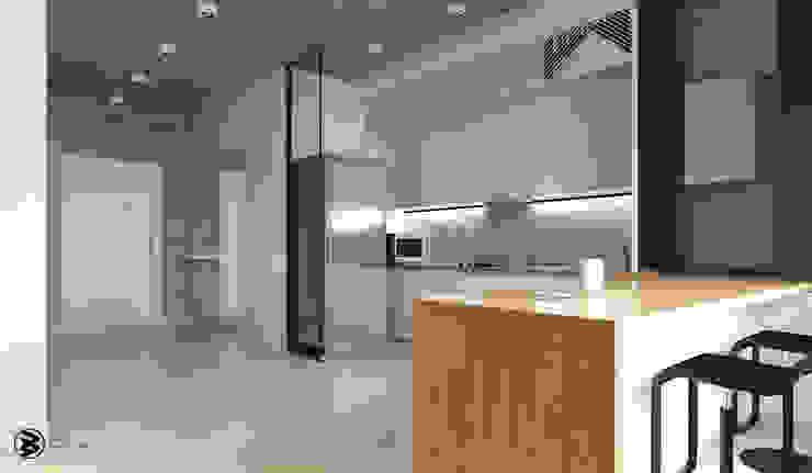 Квартира в ЖК Британский квартал Кухня в стиле лофт от 27Unit design buro Лофт