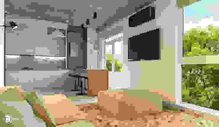 Квартира в ЖК Британский квартал Гостиная в стиле лофт от 27Unit design buro Лофт