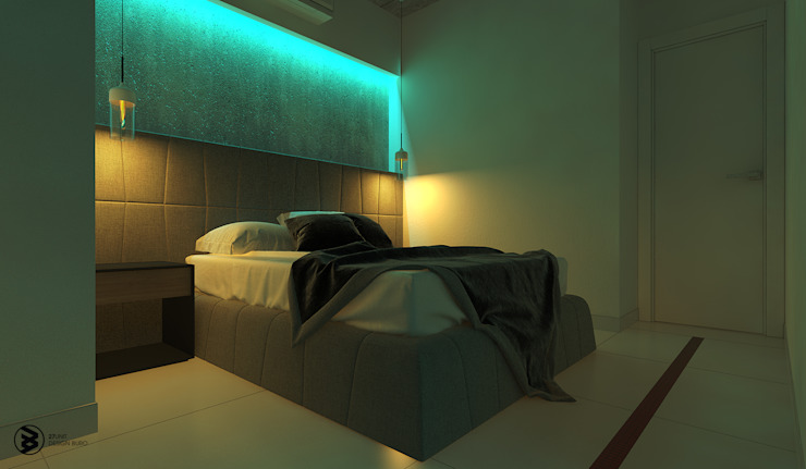 Квартира в ЖК Британский квартал Спальня в стиле лофт от 27Unit design buro Лофт