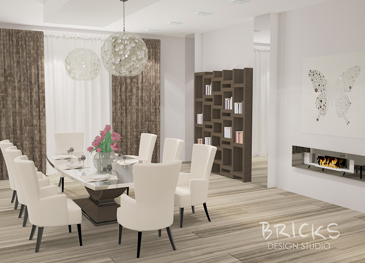 Апартаменты в центре Санкт-Петербурга. Гостиная в стиле модерн от Bricks Design Модерн