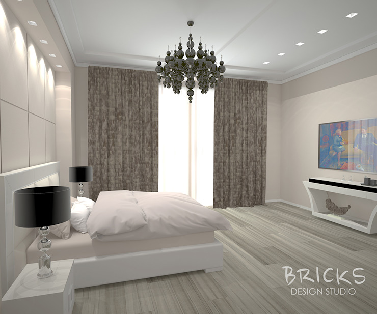 Modern Bedroom by Bricks Design Modern