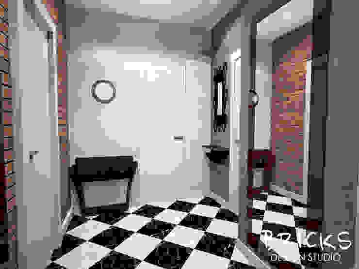 Легкость лофта Коридор, прихожая и лестница в стиле лофт от Bricks Design Лофт