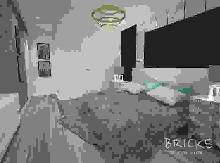 Легкость лофта Спальня в стиле лофт от Bricks Design Лофт
