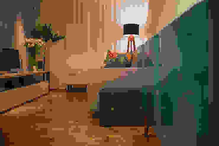 APARTAMENTO GS114 Salas de estar modernas por Aquadrado Arquitetura Moderno