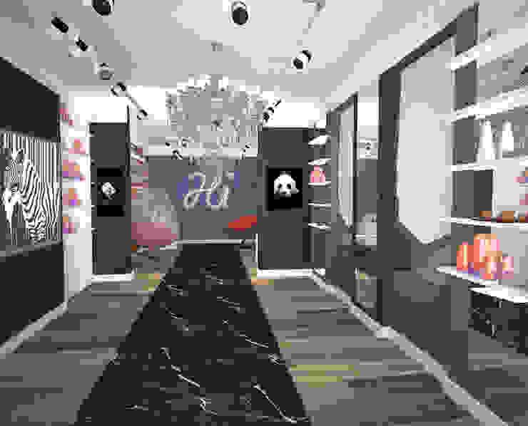 Магазин-галерея Офисы и магазины в стиле модерн от Bricks Design Модерн