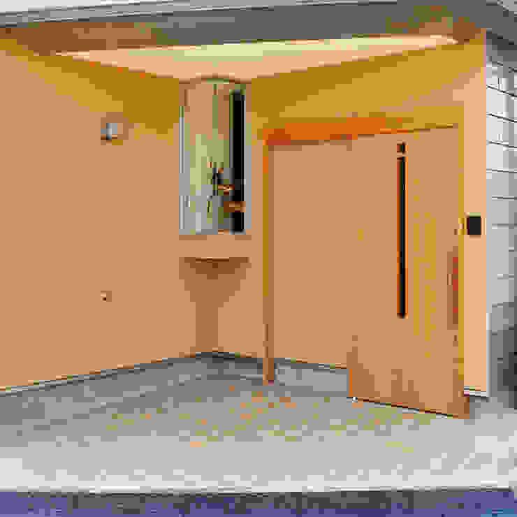 玄関と小さな出窓 モダンスタイルの 玄関&廊下&階段 の モリモトアトリエ / morimoto atelier モダン