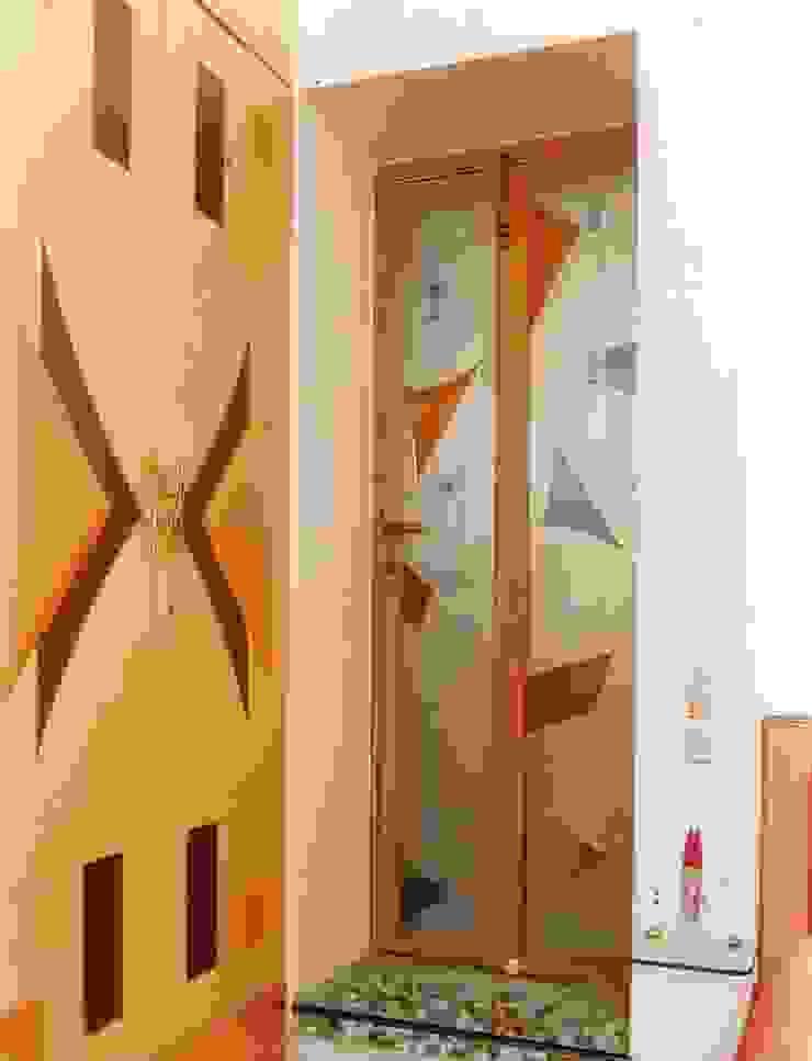 Apartment Modern corridor, hallway & stairs by NAMAN INTERIORS - Turnkey Interior Contractors Modern