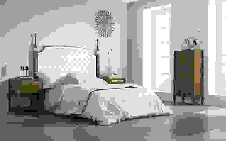 Dormitorios de estilo  por MUEBLES MIA,