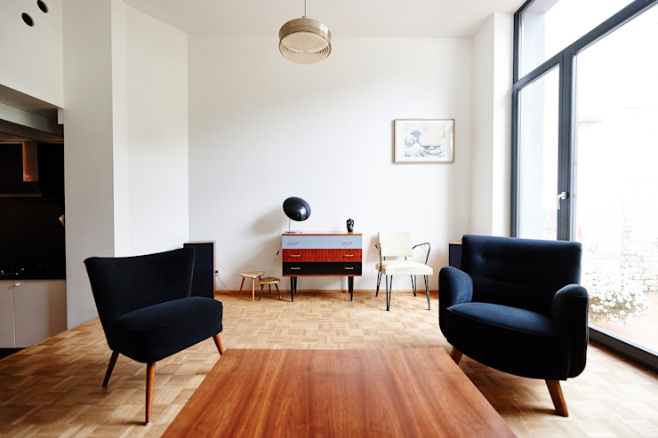 Scandinavian style living room by AUXAU Scandinavian