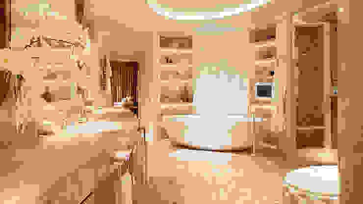 Corinthia Hotel Penthouses Modern bathroom by Debbie Flevotomou Architects Ltd. Modern Ceramic