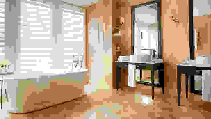 Corinthia Hotel Penthouses Modern bathroom by Debbie Flevotomou Architects Ltd. Modern Wood Wood effect
