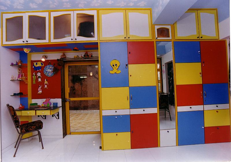 Apartment Modern nursery/kids room by NAMAN INTERIORS - Turnkey Interior Contractors Modern