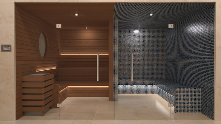 Steam and Sauna Design & Installation. Spas de estilo moderno de Nordic Saunas and Steam Moderno