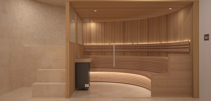 Steam and Sauna Design & Installation. Spa modernos de Nordic Saunas and Steam Moderno