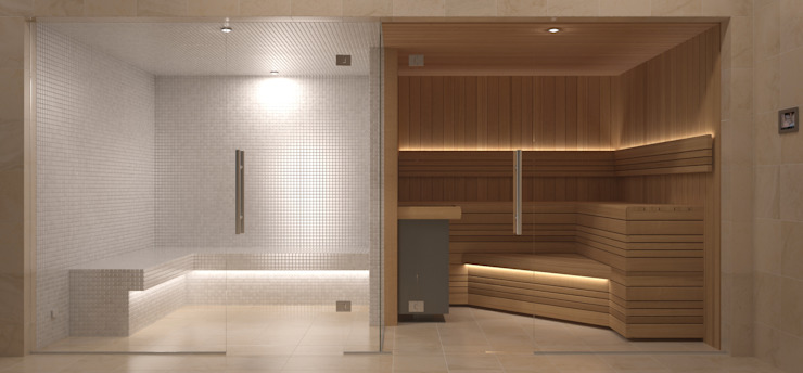 Steam and Sauna Design & Installation. Modern spa by Nordic Saunas and Steam Modern