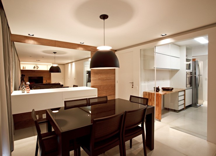 APARTAMENTO RM51 Salas de estar minimalistas por Aquadrado Arquitetura Minimalista