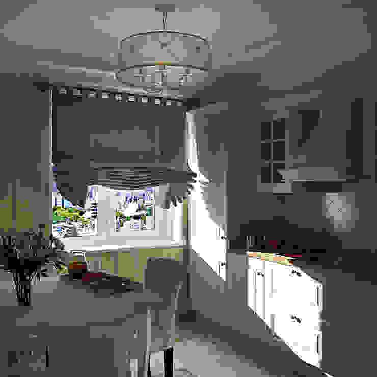 Классический стиль в однокомнатной квартире Кухня в классическом стиле от MEL design Классический
