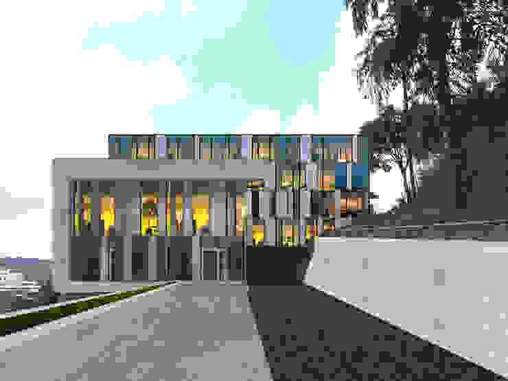 Oficinas Centrales de Instalaciones Deportivas de FergoStudio Moderno