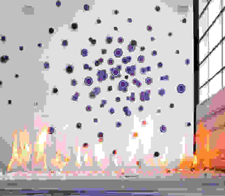 Fireplace Cellz de Studio Orfeo Quagliata Moderno Vidrio