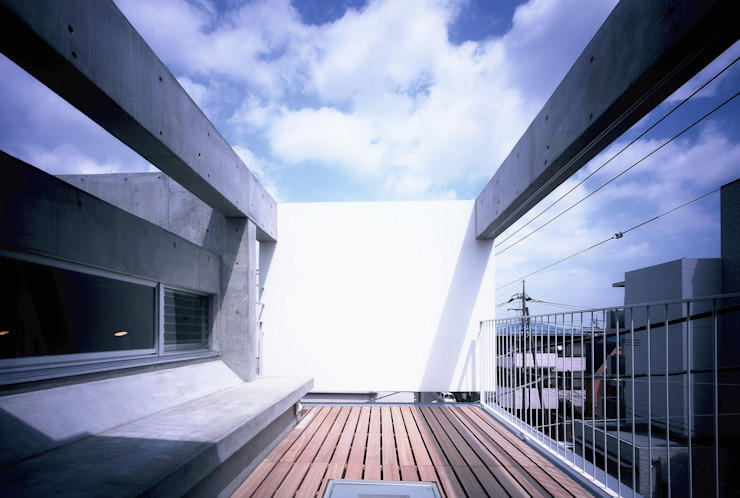 Projekty,  Taras zaprojektowane przez スズケン一級建築士事務所/Suzuken Architectural Design Office