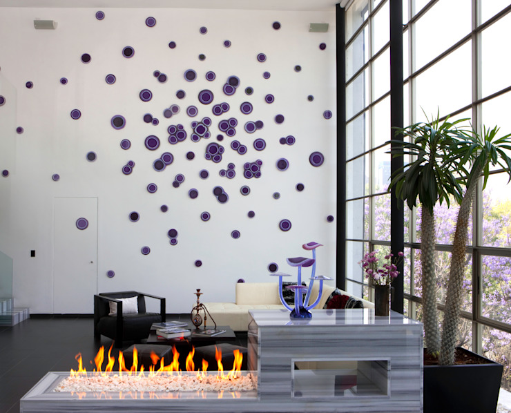Purple Shrooms & Cellz de Studio Orfeo Quagliata Moderno Vidrio