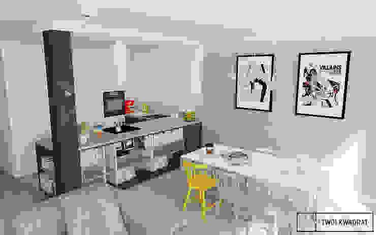Mieszkanie na warszawskiej Pradze Nowoczesna kuchnia od Twój Kwadrat Nowoczesny