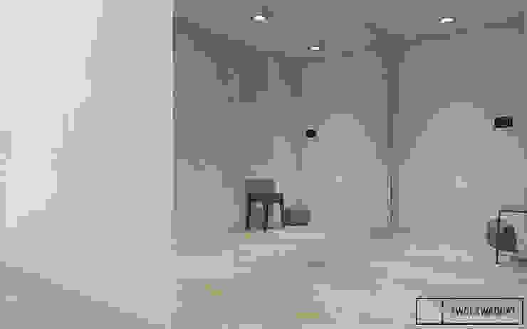 Mieszkanie na warszawskiej Pradze Nowoczesny korytarz, przedpokój i schody od Twój Kwadrat Nowoczesny