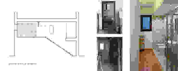 Sezione trasversale e viste interne servizi Bagno minimalista di 365Architetti Minimalista