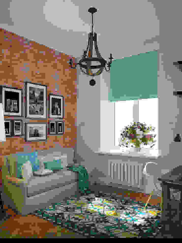 Лофт в небольшой квартире Спальня в стиле лофт от MEL design Лофт