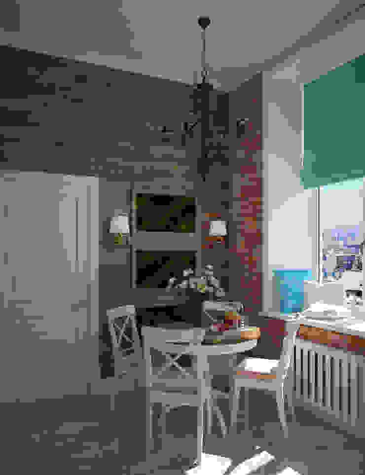 Лофт в небольшой квартире Кухня в стиле лофт от MEL design Лофт