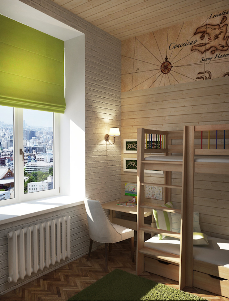 Лофт в небольшой квартире Детская комната в стиле лофт от MEL design Лофт