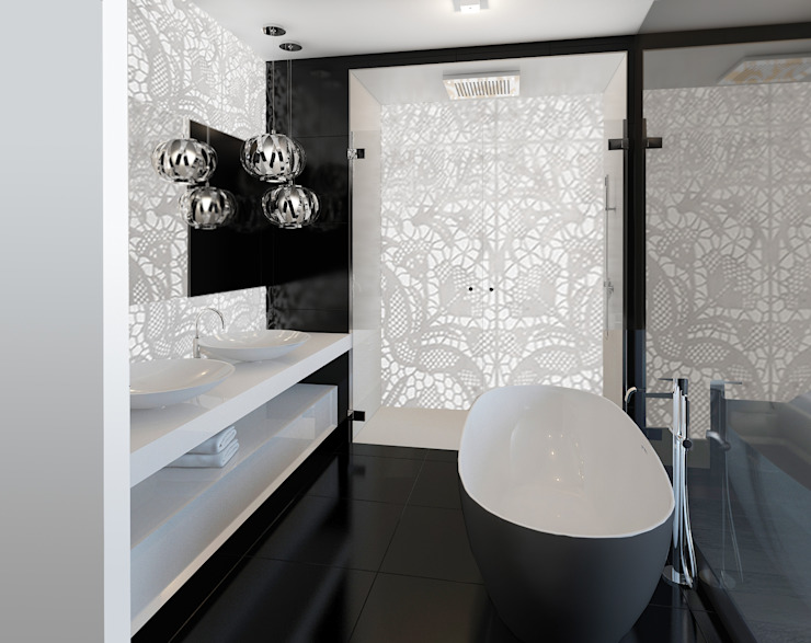 Bagno moderno di ZR-architects Moderno