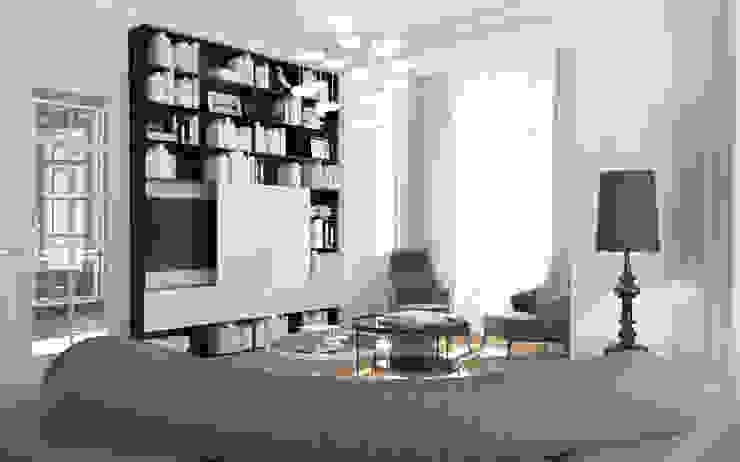 ZR-architects Ruang Keluarga Gaya Mediteran White