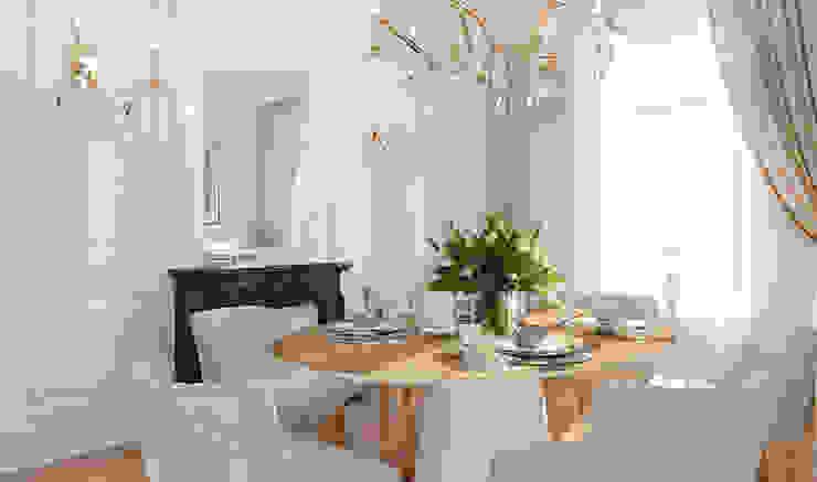 ZR-architects Comedores de estilo mediterráneo Blanco