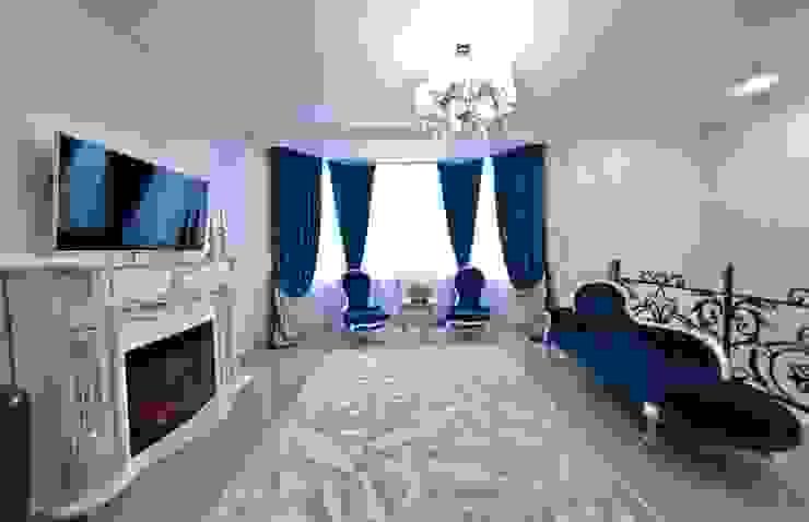 Загородный дом ул. Добрянская 235 кв.м Гостиная в классическом стиле от Дизайн студия fabrika Классический