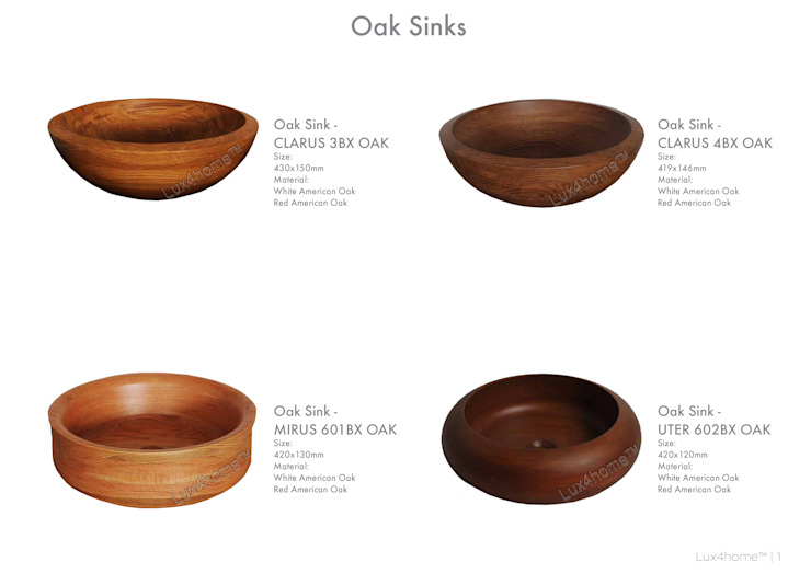 Wooden wash basins - Wooden Sinks Manufacturer / Exporter: modern  by Lux4home™ Indonesia, Modern