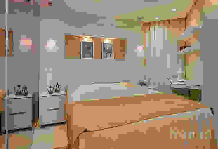 Dormitorio casal por Letícia Bowoniuk Arquitetura e Interiores Minimalista