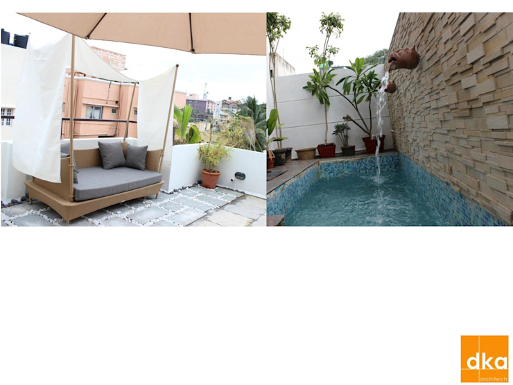 B&N Residence Modern pool by Dutta Kannan Partners Modern