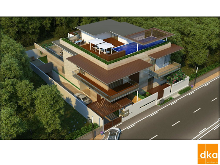 Poddar residence Modern houses by Dutta Kannan Partners Modern