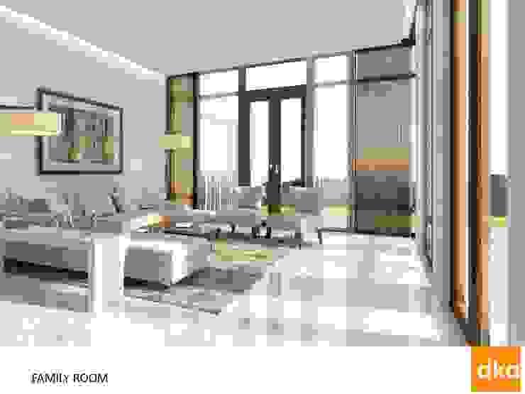 Poddar residence Modern living room by Dutta Kannan Partners Modern