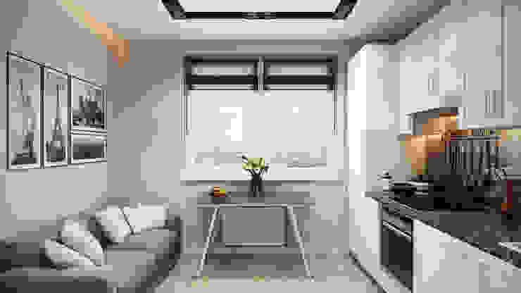 Cocinas de estilo minimalista de студия визуализации и дизайна интерьера '3dm2' Minimalista