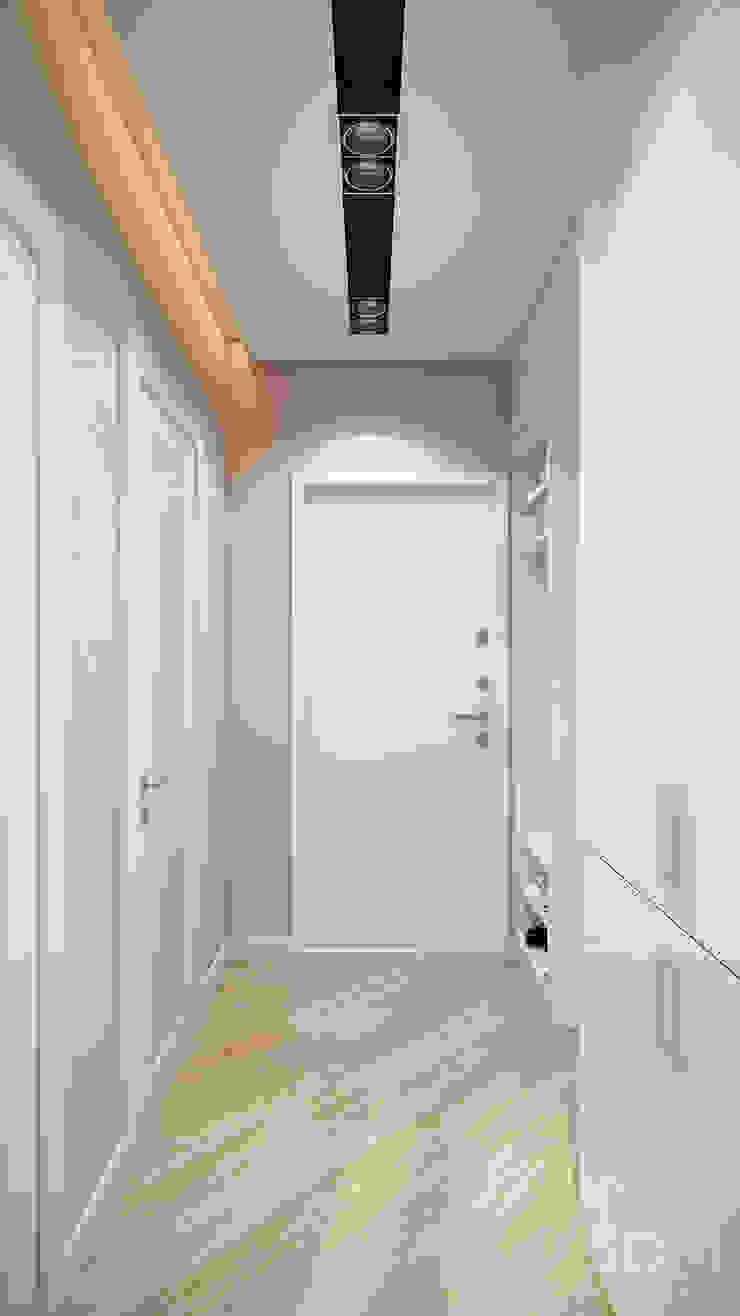 Проект 046: квартира на Борисовских прудах Коридор, прихожая и лестница в стиле минимализм от студия визуализации и дизайна интерьера '3dm2' Минимализм