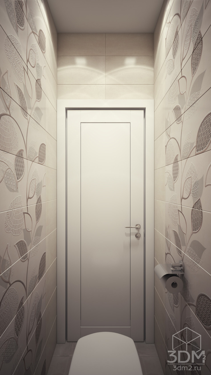 Проект 046: квартира на Борисовских прудах Ванная комната в стиле минимализм от студия визуализации и дизайна интерьера '3dm2' Минимализм