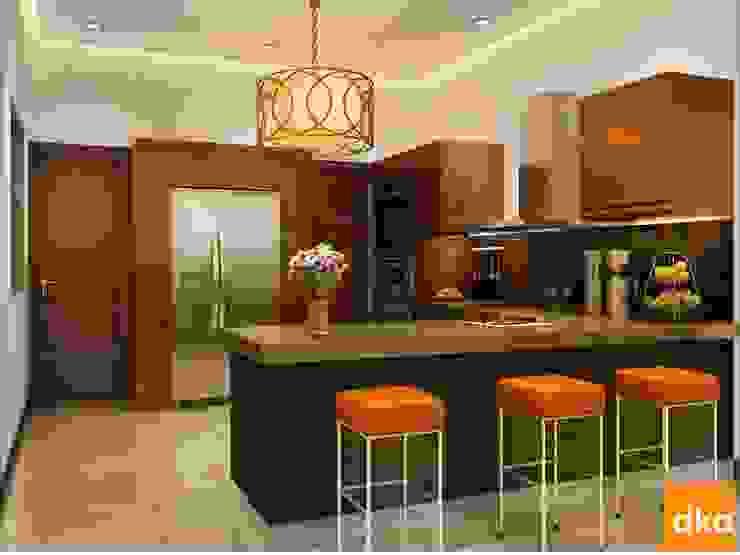 Mockup 3 BED Luxury Apartment Modern kitchen by Dutta Kannan architects Modern