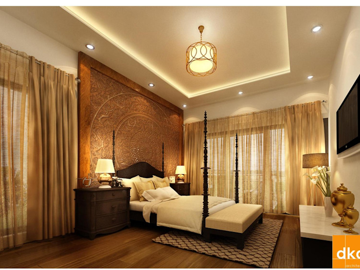 Mockup 3 BED Luxury Apartment Modern style bedroom by Dutta Kannan architects Modern