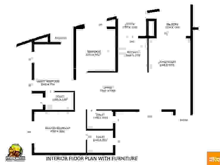 Kolte Patil Mirabillis apartment Modern houses by Dutta Kannan Partners Modern