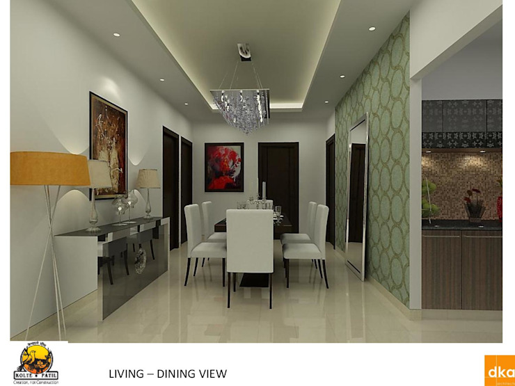 Kolte Patil Mirabillis apartment Modern dining room by Dutta Kannan Partners Modern