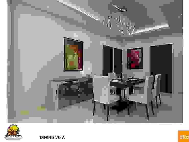 Kolte Patil Mirabillis apartment Modern dining room by Dutta Kannan architects Modern