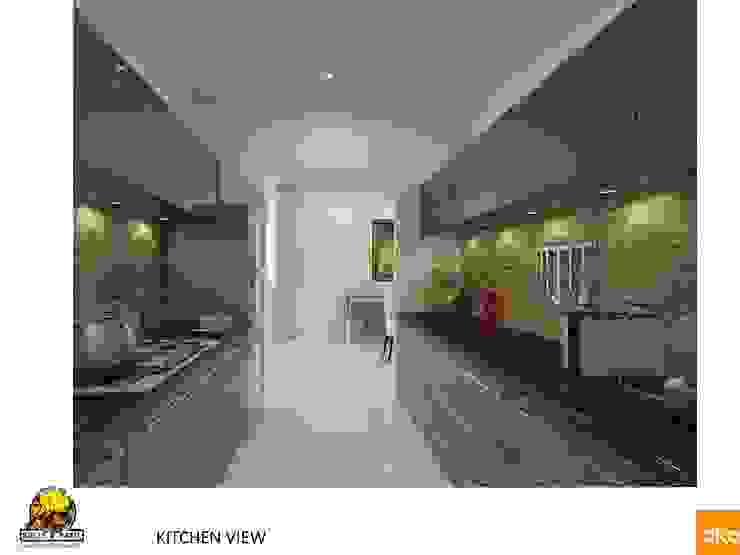 Kolte Patil Mirabillis apartment Modern kitchen by Dutta Kannan architects Modern